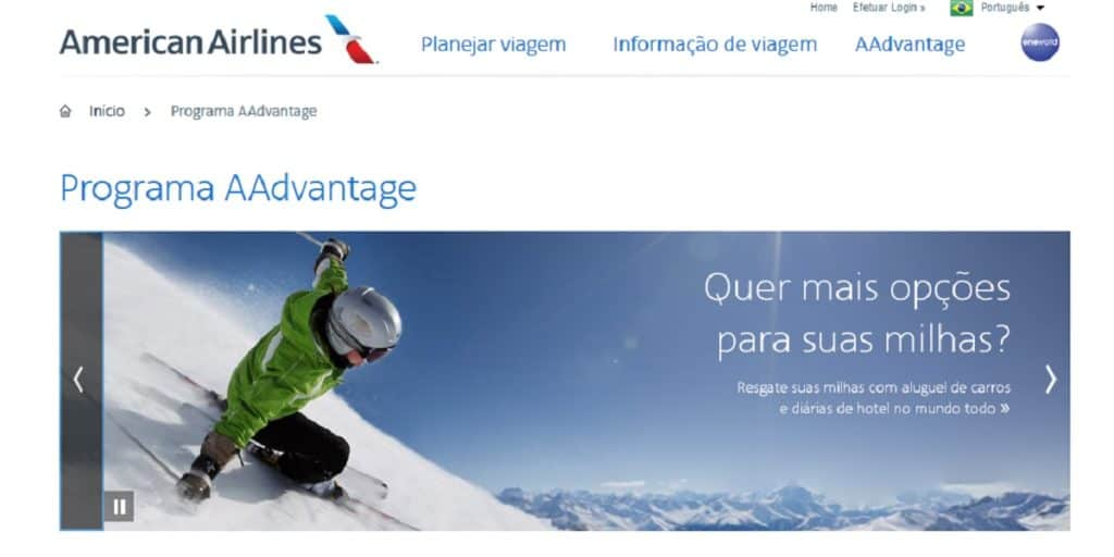 Milhas American Airlines